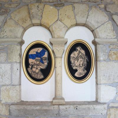 peintures sur bois Profilo, Elia Pagliarino
