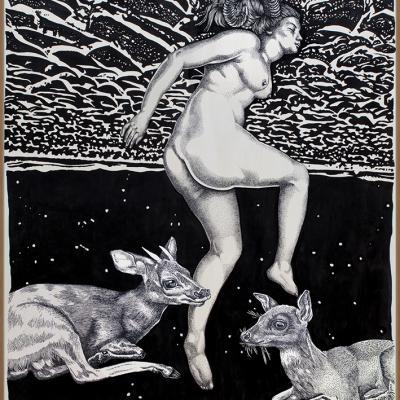 Clair de Lune / 92 x 126 cm
