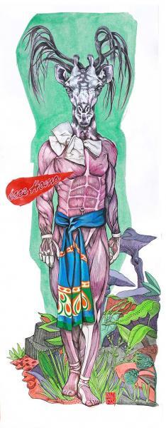 Ecce Homo, encres sur papier marouflé sur tissu, 70x135 cm  //  elia pagliarino 6