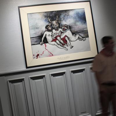Loth et ses Filles, encres et acrylique sur papier, 124x100 cm  //  elia pagliarno