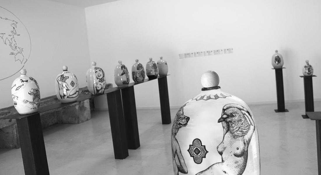 Salle des Balises, céramiques, elia pagliarino