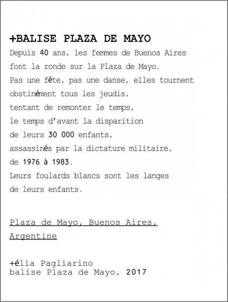 Texte conservé dans la Balise Plaza de Mayo // elia pagliarino